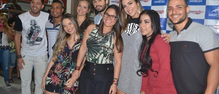 Vivian Amorim e Luiz Felipe marcam presença em festa da Supermoda