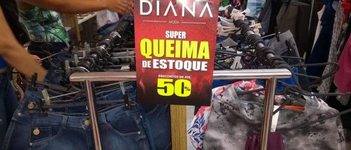 Diana Moda faz super queima de estoque com descontos de até 50% em Penedo