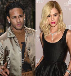 Neymar se assusta com cabelo loiro de Bruna Marquezine e reage: 'Eita'