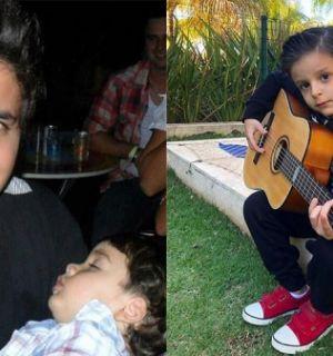 Filhos de Cristiano Araújo seguem os gostos do pai na música e no futebol