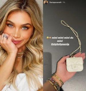 Flavia Pavanelli ostenta capa da Chanel de R$ 4,5 mil para fone de ouvido