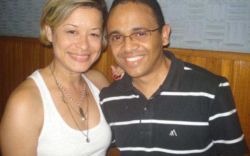 Atriz Ivana Isa e produtor cultural Fernando Artur