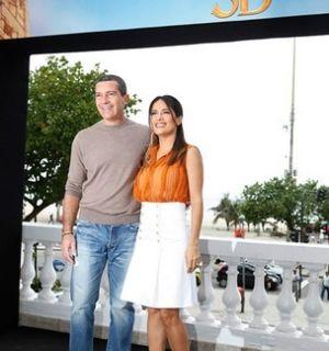 Salma Hayek e Antonio Banderas lançam filme no Rio