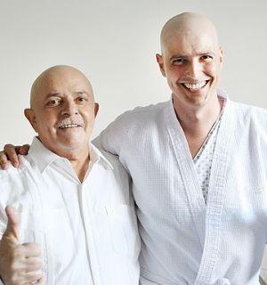 Em tratamento contra o câncer, Lula e Gianecchini se encontram em hospital
