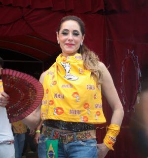 Cristiane Torloni curte o desfile das escolas campeãs do Rio