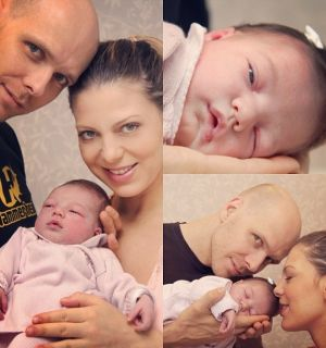 Sheila Mello e Fernando Scherer mostram a filha Brenda pela primeira vez