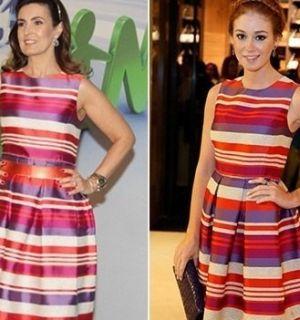 Fátima Bernardes e Marina Ruy Barbosa saem com o mesmo vestido